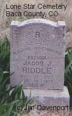 RIDDLE, JACOB J. - Baca County, Colorado | JACOB J. RIDDLE - Colorado Gravestone Photos