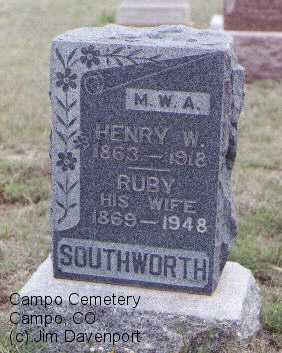 SOUTHWORTH, RUBY - Baca County, Colorado | RUBY SOUTHWORTH - Colorado Gravestone Photos
