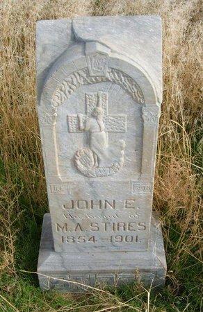 STIRES, JOHN E - Baca County, Colorado | JOHN E STIRES - Colorado Gravestone Photos