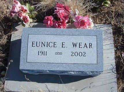 HOOVER WEAR, EUNICE E - Baca County, Colorado | EUNICE E HOOVER WEAR - Colorado Gravestone Photos