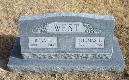 BAREFOOT WEST, ROSA EVELYN - Baca County, Colorado | ROSA EVELYN BAREFOOT WEST - Colorado Gravestone Photos