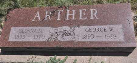 ARTHER, GEORGE W. - Bent County, Colorado   GEORGE W. ARTHER - Colorado Gravestone Photos