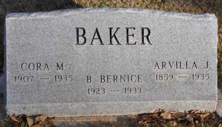 BAKER, ARVILLA J. - Bent County, Colorado | ARVILLA J. BAKER - Colorado Gravestone Photos