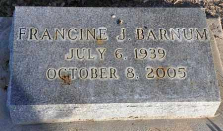 BARNUM, FRANCINE J. - Bent County, Colorado | FRANCINE J. BARNUM - Colorado Gravestone Photos