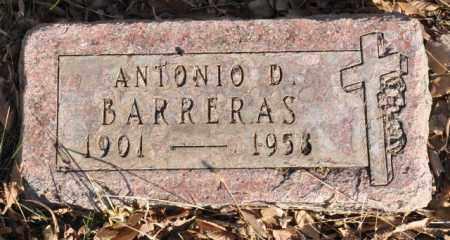 BARRERAS, ANTONIO D. - Bent County, Colorado | ANTONIO D. BARRERAS - Colorado Gravestone Photos