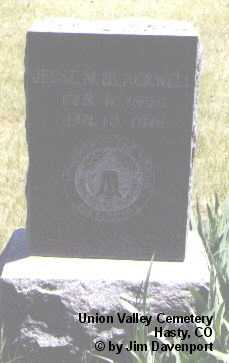 BLACKWELL, JESSE M. - Bent County, Colorado | JESSE M. BLACKWELL - Colorado Gravestone Photos