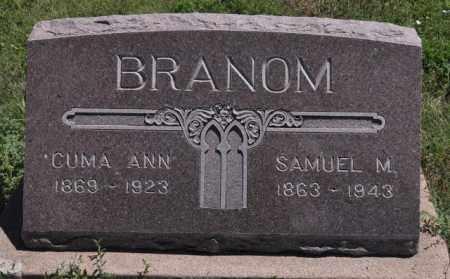 BRANOM, CUMA ANN - Bent County, Colorado | CUMA ANN BRANOM - Colorado Gravestone Photos
