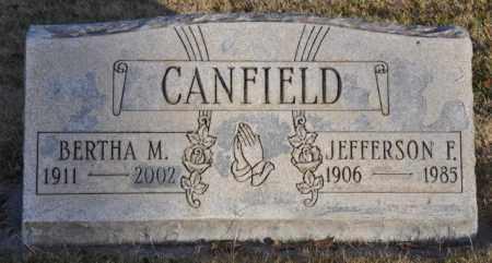 CANFIELD, JEFFERSON F. - Bent County, Colorado | JEFFERSON F. CANFIELD - Colorado Gravestone Photos