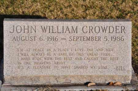 CROWDER, JOHN WILLIAM - Bent County, Colorado | JOHN WILLIAM CROWDER - Colorado Gravestone Photos