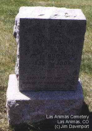 GHOLSON, AMANDA M. - Bent County, Colorado | AMANDA M. GHOLSON - Colorado Gravestone Photos