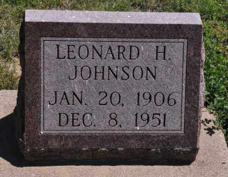 JOHNSON, LEONARD H - Bent County, Colorado | LEONARD H JOHNSON - Colorado Gravestone Photos