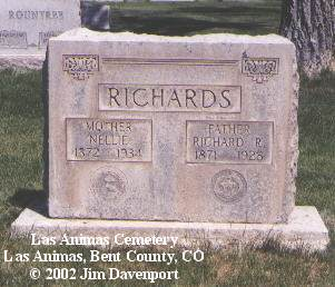 RICHARDS, NELLIE - Bent County, Colorado | NELLIE RICHARDS - Colorado Gravestone Photos