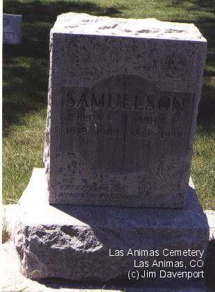 SAMUELSON, JOHN E. - Bent County, Colorado | JOHN E. SAMUELSON - Colorado Gravestone Photos