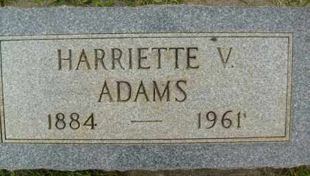 ADAMS, HARRIETTE V. - Boulder County, Colorado | HARRIETTE V. ADAMS - Colorado Gravestone Photos