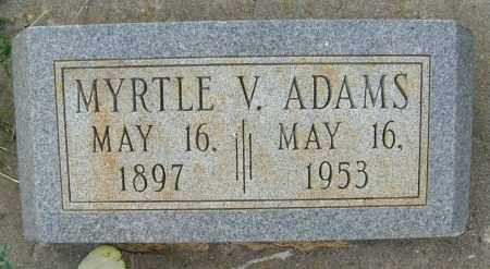 ADAMS, MYRTLE V. - Boulder County, Colorado | MYRTLE V. ADAMS - Colorado Gravestone Photos