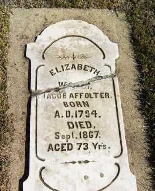 AFFOLTER, ELIZABETH - Boulder County, Colorado | ELIZABETH AFFOLTER - Colorado Gravestone Photos