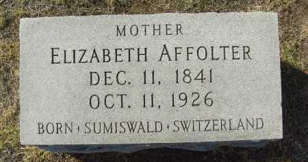 AFFOLTER, ELIZABETH - Boulder County, Colorado   ELIZABETH AFFOLTER - Colorado Gravestone Photos
