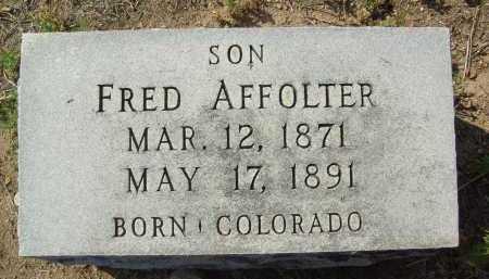 AFFOLTER, FRED - Boulder County, Colorado | FRED AFFOLTER - Colorado Gravestone Photos