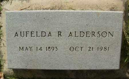 ALDERSON, AUFELDA R. - Boulder County, Colorado   AUFELDA R. ALDERSON - Colorado Gravestone Photos
