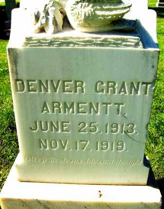 ARMENTT, DENVER GRANT - Boulder County, Colorado | DENVER GRANT ARMENTT - Colorado Gravestone Photos