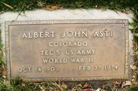 ASTI, ALBERT JOHN - Boulder County, Colorado   ALBERT JOHN ASTI - Colorado Gravestone Photos