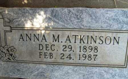 ATKINSON, ANNA M. - Boulder County, Colorado   ANNA M. ATKINSON - Colorado Gravestone Photos
