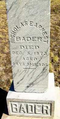 BADER, NICHOLAS EARNEST - Boulder County, Colorado   NICHOLAS EARNEST BADER - Colorado Gravestone Photos