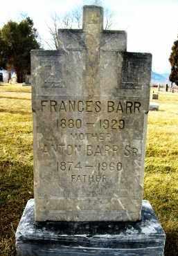 BARR, FRANCES - Boulder County, Colorado | FRANCES BARR - Colorado Gravestone Photos