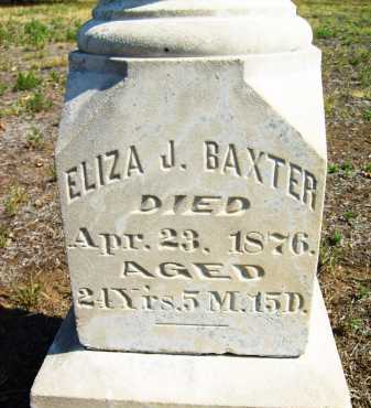 BAXTER, ELIZA J. - Boulder County, Colorado | ELIZA J. BAXTER - Colorado Gravestone Photos