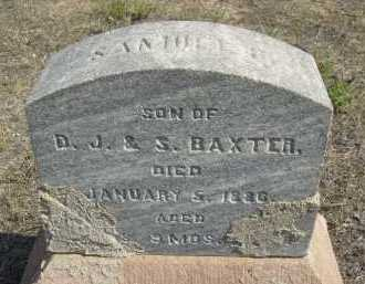 BAXTER, SAMUEL R. - Boulder County, Colorado | SAMUEL R. BAXTER - Colorado Gravestone Photos