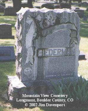 BIEDERMAN, FRED - Boulder County, Colorado | FRED BIEDERMAN - Colorado Gravestone Photos