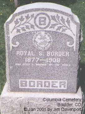 BORDER, ROYAL S. - Boulder County, Colorado | ROYAL S. BORDER - Colorado Gravestone Photos