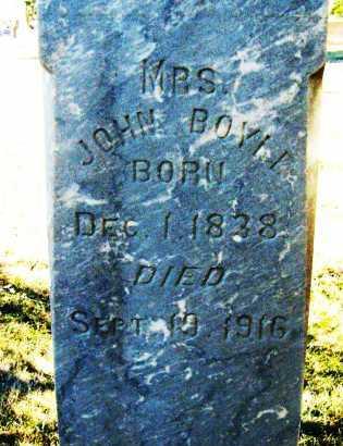 BOYLE, MRS. JOHN - Boulder County, Colorado | MRS. JOHN BOYLE - Colorado Gravestone Photos
