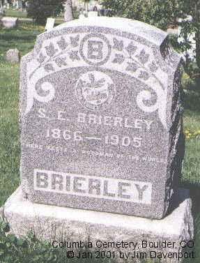 BRIERLY, S. E. - Boulder County, Colorado | S. E. BRIERLY - Colorado Gravestone Photos
