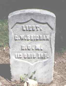 BRIGHAM, G. W. - Boulder County, Colorado | G. W. BRIGHAM - Colorado Gravestone Photos