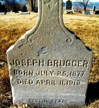 BRUGGER, JOSEPH - Boulder County, Colorado | JOSEPH BRUGGER - Colorado Gravestone Photos