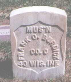 BURDICK, FRANK O. - Boulder County, Colorado   FRANK O. BURDICK - Colorado Gravestone Photos