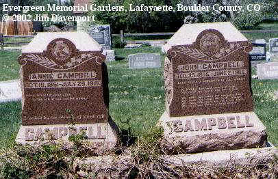 CAMPBELL, ANNIE - Boulder County, Colorado | ANNIE CAMPBELL - Colorado Gravestone Photos