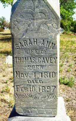 CAVEY, SARAH ANN - Boulder County, Colorado | SARAH ANN CAVEY - Colorado Gravestone Photos