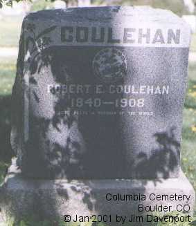 COULEHAN, ROBERT E. - Boulder County, Colorado | ROBERT E. COULEHAN - Colorado Gravestone Photos
