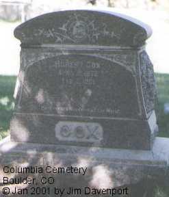 COX, ROBERT - Boulder County, Colorado | ROBERT COX - Colorado Gravestone Photos
