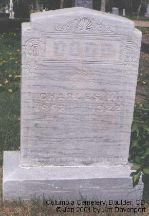 DODD, CHARLES W. - Boulder County, Colorado | CHARLES W. DODD - Colorado Gravestone Photos