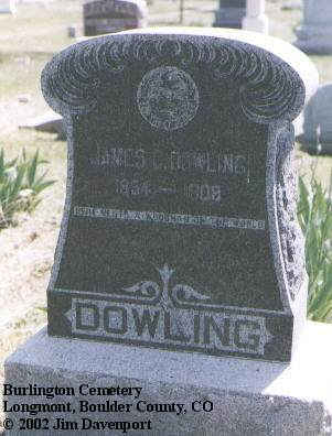 DOWLING, JAMES C. - Boulder County, Colorado | JAMES C. DOWLING - Colorado Gravestone Photos