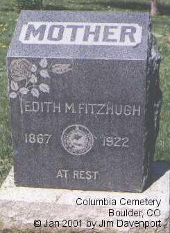 FITZHUGH, EDITH M. - Boulder County, Colorado | EDITH M. FITZHUGH - Colorado Gravestone Photos