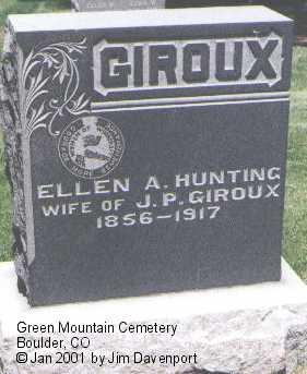 HUNTING GIROUX, ELLEN A. - Boulder County, Colorado | ELLEN A. HUNTING GIROUX - Colorado Gravestone Photos
