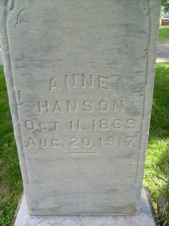 HANSON, ANNE - Boulder County, Colorado | ANNE HANSON - Colorado Gravestone Photos