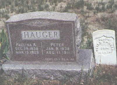 HAUGER, PETER - Boulder County, Colorado   PETER HAUGER - Colorado Gravestone Photos