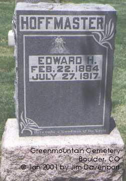HOFFMASTER, EDWARD H. - Boulder County, Colorado | EDWARD H. HOFFMASTER - Colorado Gravestone Photos