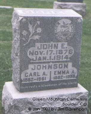 JOHNSON, EMMA A. - Boulder County, Colorado | EMMA A. JOHNSON - Colorado Gravestone Photos