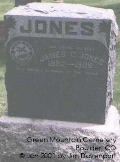 JONES, JAMES C. - Boulder County, Colorado | JAMES C. JONES - Colorado Gravestone Photos